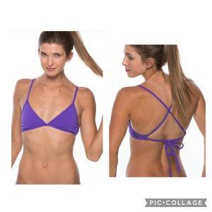 JOLYN Athletic TRIANGLE Bikini Top Purple